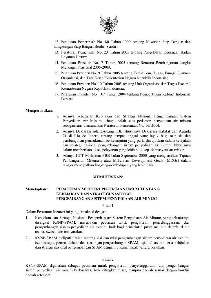 12. Peraturan Pemerintah No. 80 Tahun 1999 tentang Kawasan Siap Bangun dan                 Lingkungan Siap Bangun Berdiri ...