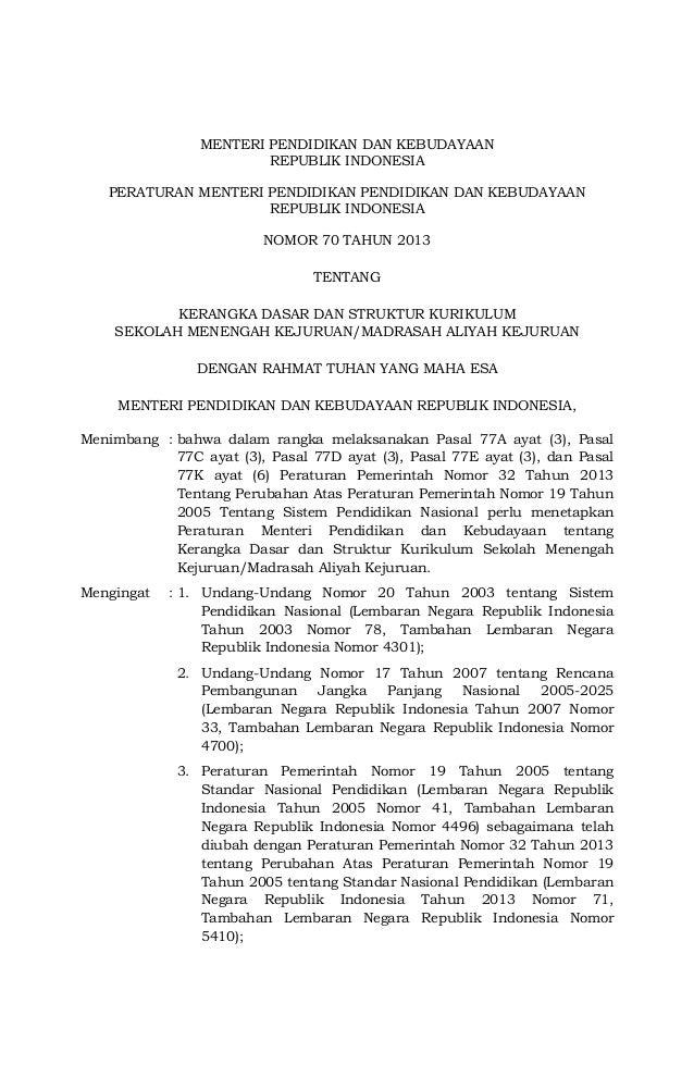 MENTERI PENDIDIKAN DAN KEBUDAYAANREPUBLIK INDONESIAPERATURAN MENTERI PENDIDIKAN PENDIDIKAN DAN KEBUDAYAANREPUBLIK INDONESI...