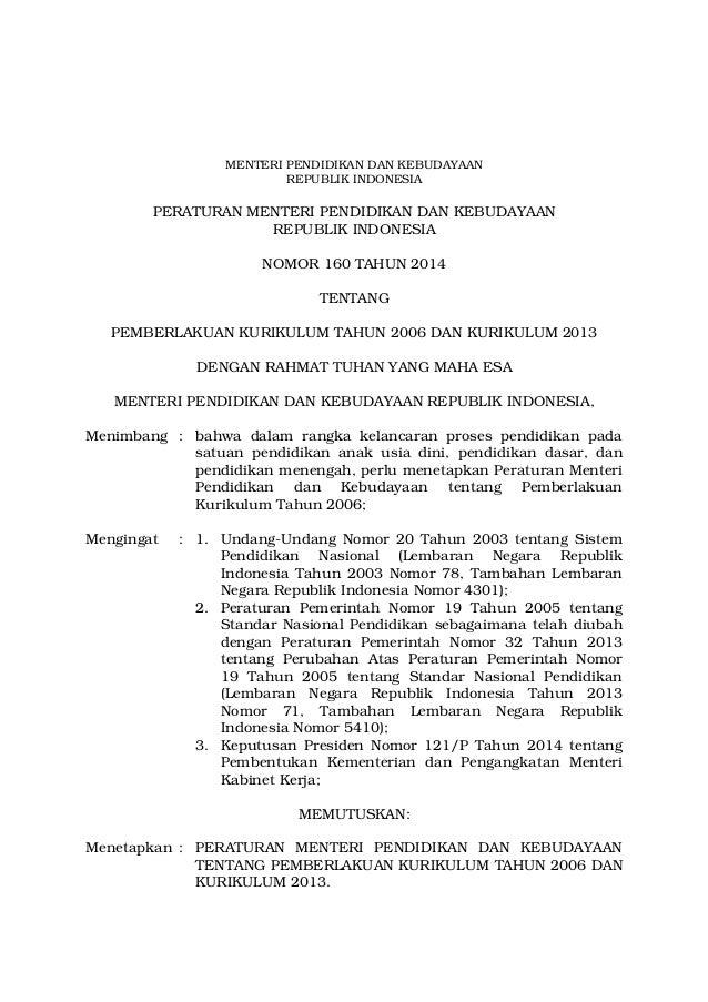 MENTERI PENDIDIKAN DAN KEBUDAYAAN  REPUBLIK INDONESIA  PERATURAN MENTERI PENDIDIKAN DAN KEBUDAYAAN  REPUBLIK INDONESIA  NO...