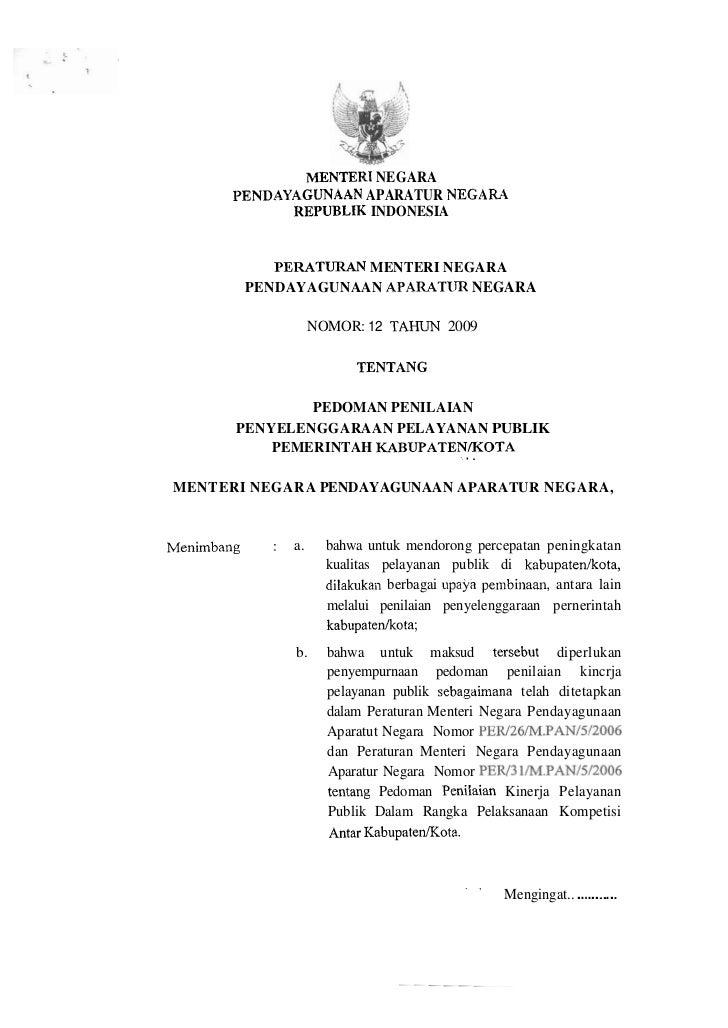 MENTEIBB NEGARA        1)ENDAYAGUNAAN APARATUR N E G A M               REPUBLIK INDONESIA               PERATURAN MENTERI ...