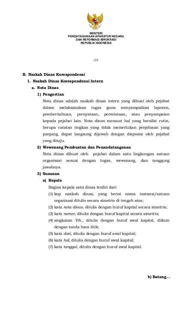 Permenpan No 80 Tahun 2012 Tentang Pedoman Tata Naskah Dinas