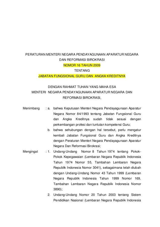 Image Result For Download Permendikbud Tentang Jabatan Fungsional Guru