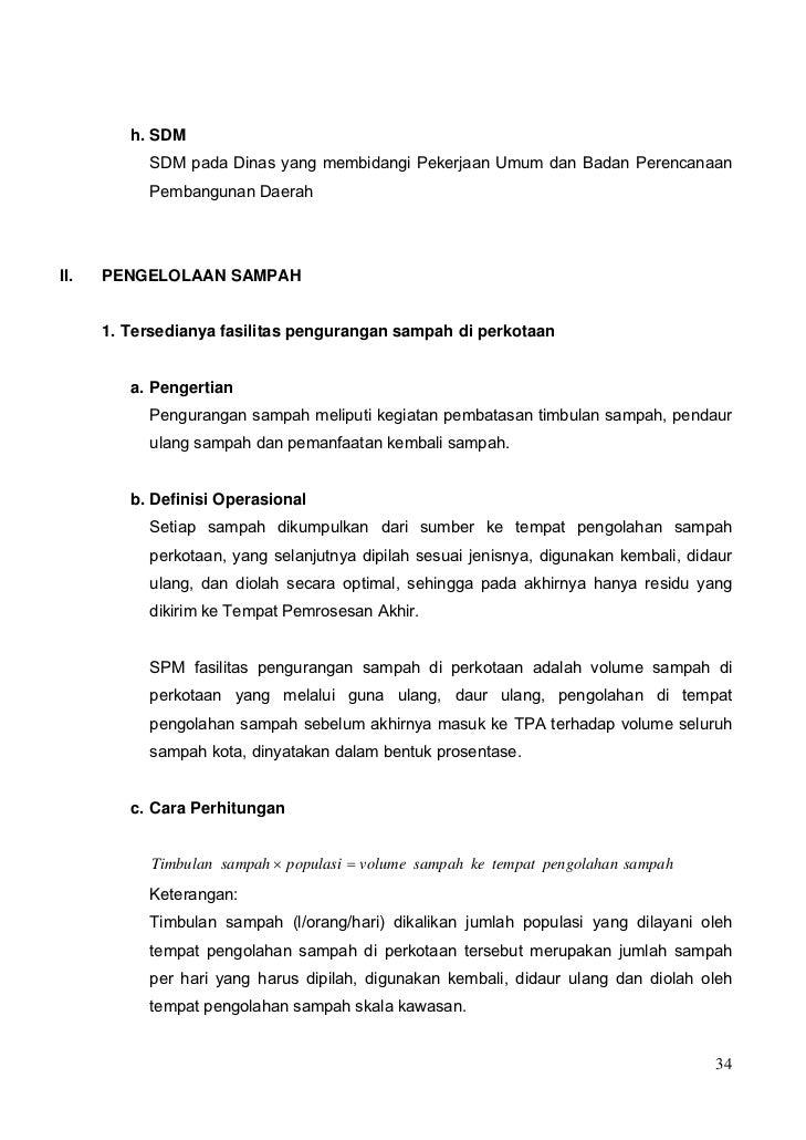 h. SDM           SDM pada Dinas yang membidangi Pekerjaan Umum dan Badan Perencanaan           Pembangunan DaerahII.   PEN...