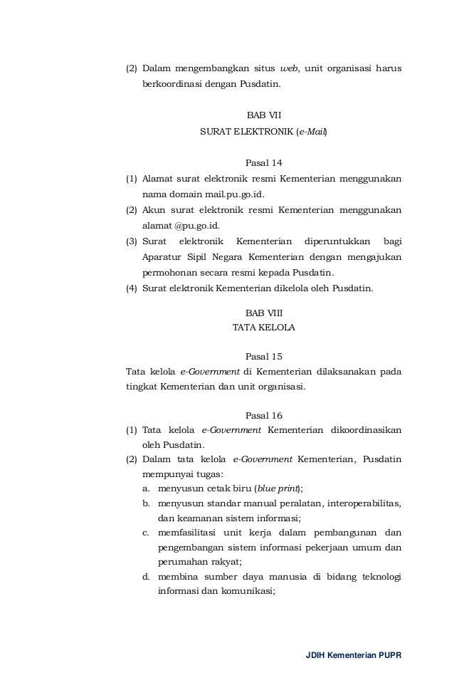 Kop Surat Kementerian Pekerjaan Umum Dan Perumahan Rakyat Contoh Seputar Surat