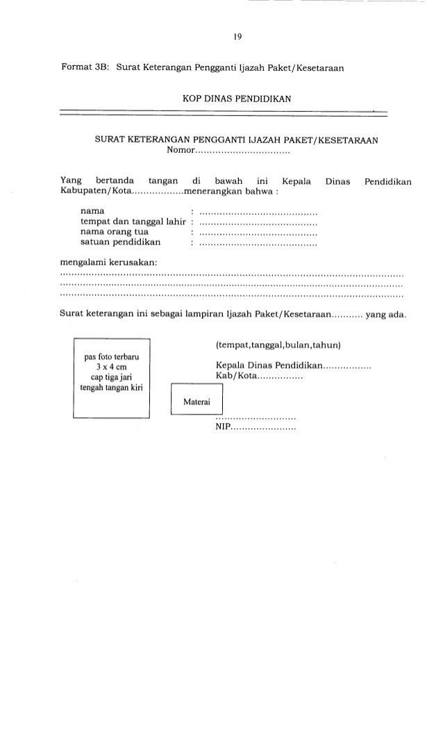 Contoh Surat Izin Sekolah Cap 3 Jari