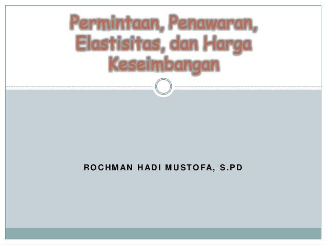 Permintaan Dan Penawaran Elastisitas Permintaan Download ...