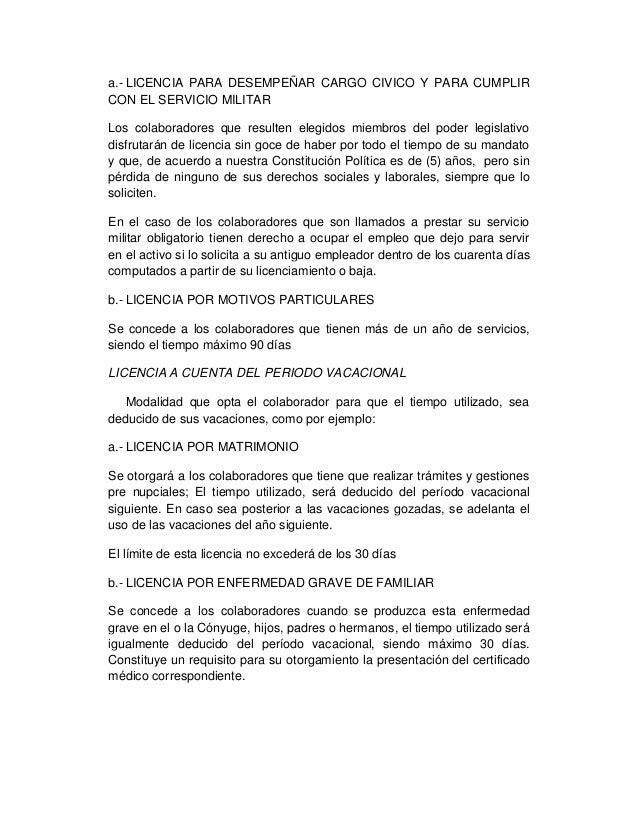 Permisos y licencias laborales
