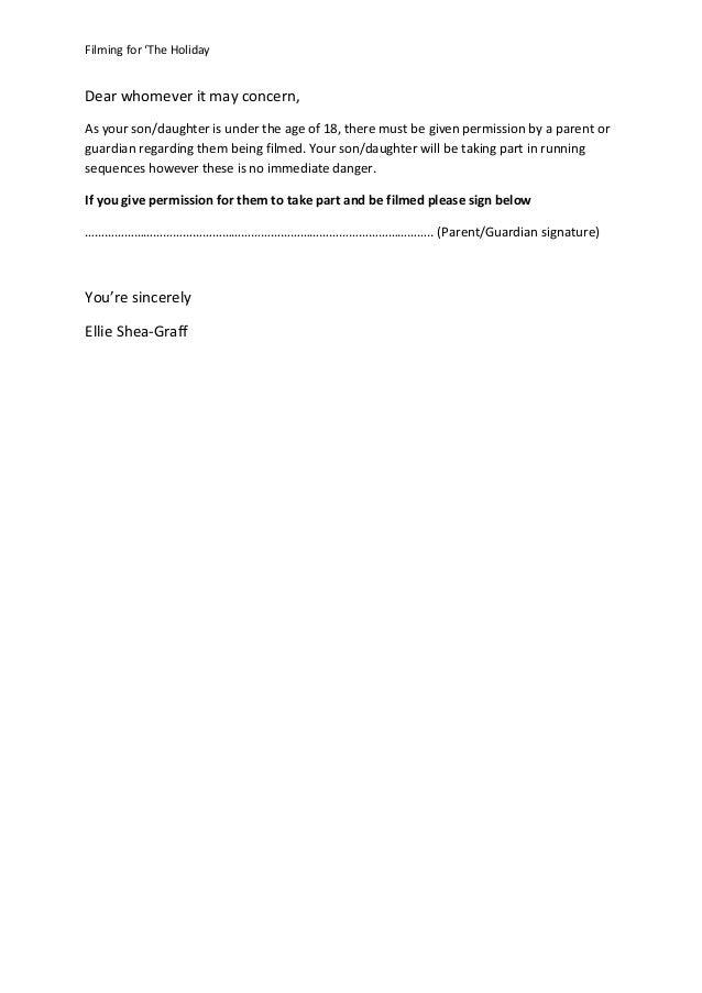 Permission Letter