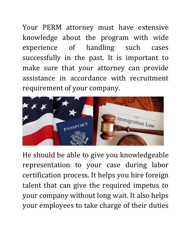 Perm Labor Certification Attorney An Overview