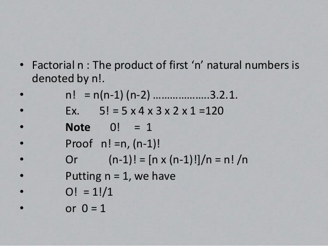 Permutation• Number of permutations of 'n' different things  taken 'r' at a time is given by:-• n Pr   =         n!/(n-r)!