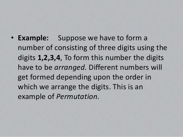 Permutation and combination Slide 3