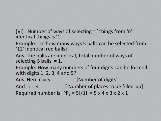 Restricted – Permutations(a) Number of permutations of 'n' things, taken 'r' at a time, whena particular thing is to be al...