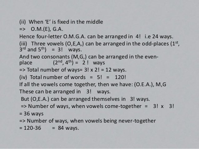 Number of Combination of 'n' different things, taken 'r' at a time is given by:-nC = n! / r ! x (n-r)!  rProof: Each combi...
