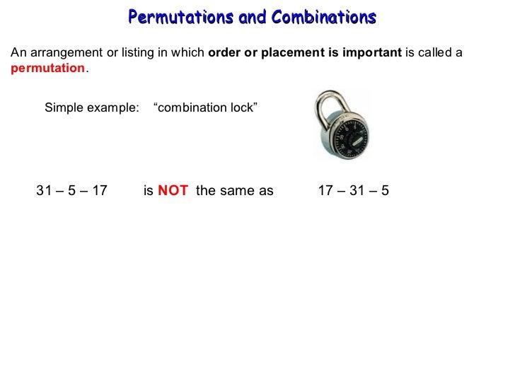 Permutations & Combinations Slide 2