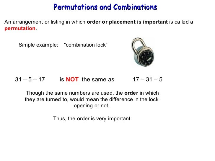 Permutations Combinations – Combination and Permutation Worksheet