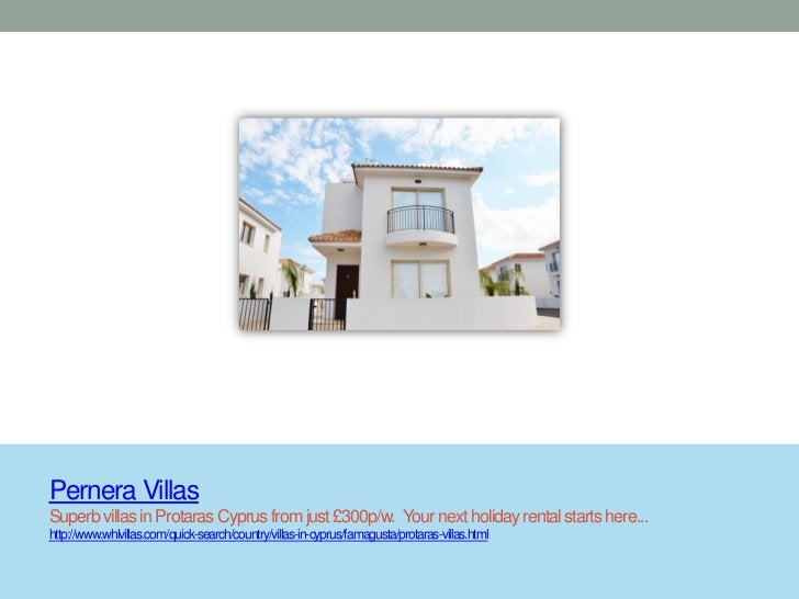 Pernera VillasSuperb villas in Protaras Cyprus from just £300p/w. Your next holiday rental starts here...http://www.whlvil...
