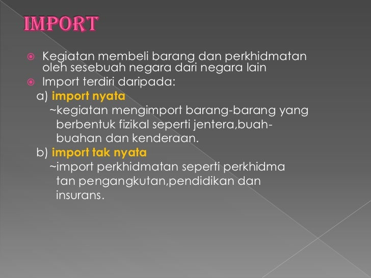 Perniagaan Import Eksport Entrepot
