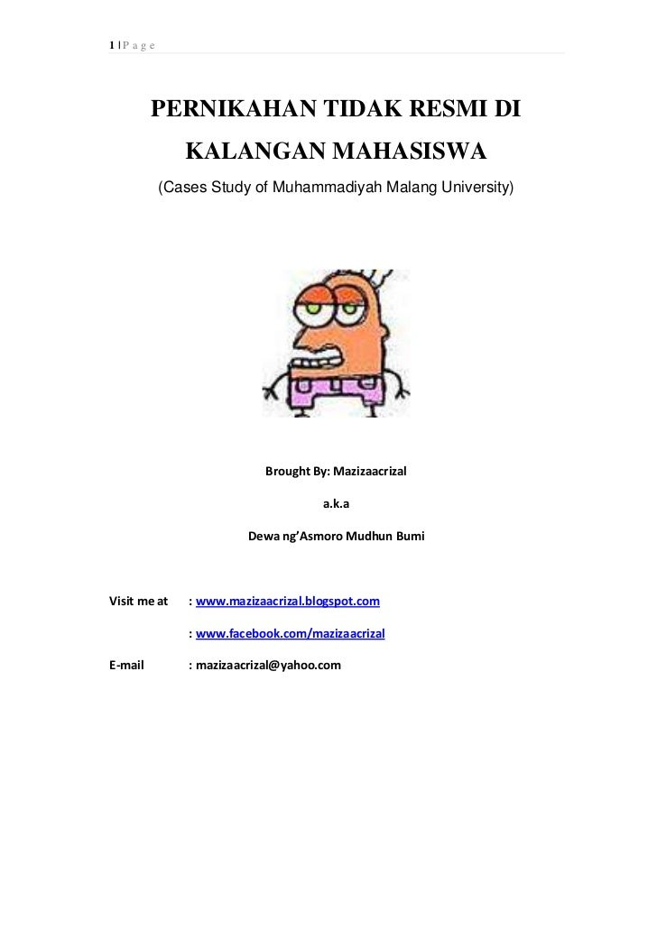 1|P age         PERNIKAHAN TIDAK RESMI DI              KALANGAN MAHASISWA          (Cases Study of Muhammadiyah Malang Uni...