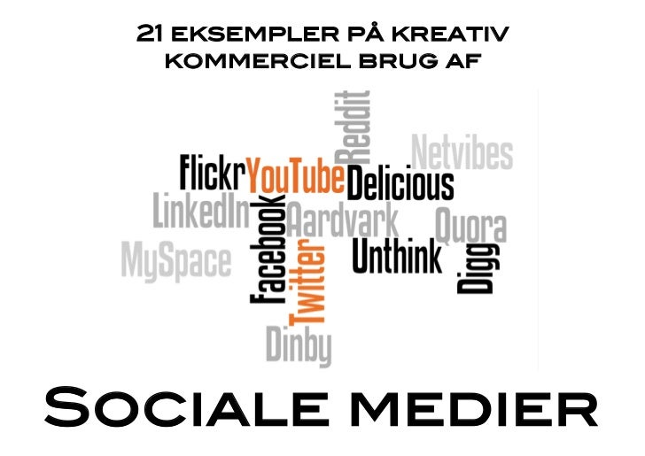 21 eksempler på kreativ    kommerciel brug af!Sociale medier