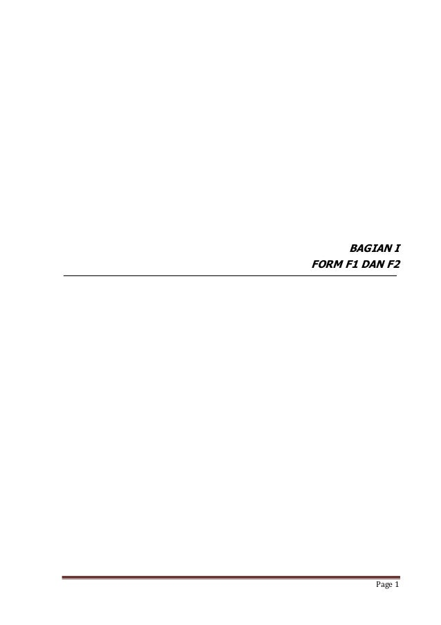 BAGIAN IFORM F1 DAN F2          Page 1