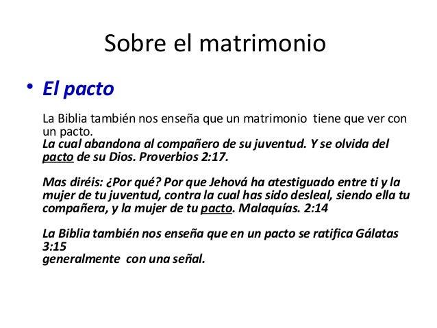 Matrimonio Segun Biblia : Pero a causa de las fornicaciones
