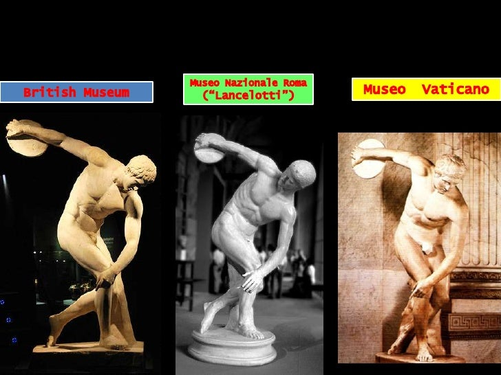 """Museo NazionaleRoma (""""Lancelotti"""")<br />Museo  Vaticano<br />British Museum<br />"""