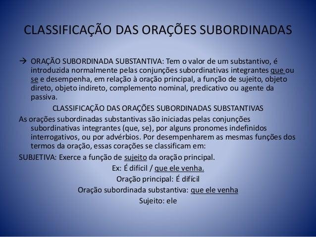 Orações Subordinadas Slide 3