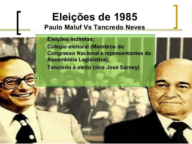 PERÍODO DEMOCRÁTICO DA HISTÓRIA DO BRASIL 1985 A 2013 Slide 2