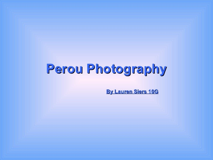 Perou Photography   By Lauren Siers 10G