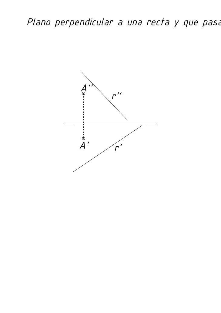 Diédrico: Perpendicularidad recta plano