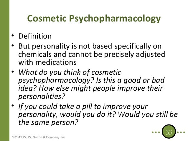 Cosmetic psychopharmacology