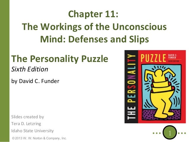 Chapter 11: The Workings of the Unconscious Mind: Defenses and Slips The Personality Puzzle Sixth Edition  by David C. Fun...