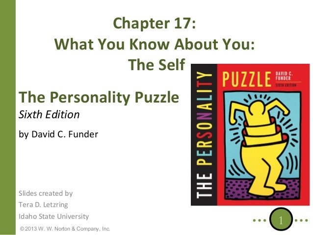 Chapter 17: What You Know About You: The Self The Personality Puzzle Sixth Edition  by David C. Funder  Slides created by ...
