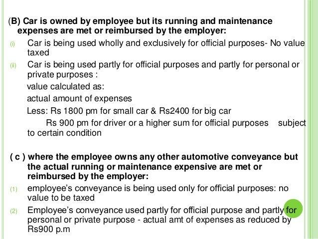 Perquisites & allowance