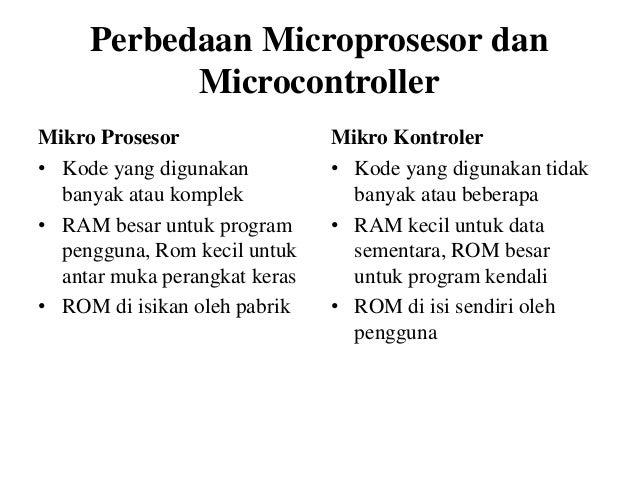 Perbedaan Mikrokontroler Dan Mikroprosesor