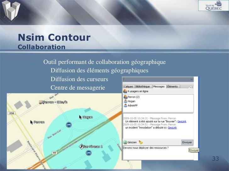 Nsim Contour Collaboration <ul><ul><li>Outil performant de collaboration géographique </li></ul></ul><ul><ul><li>Diffusion...
