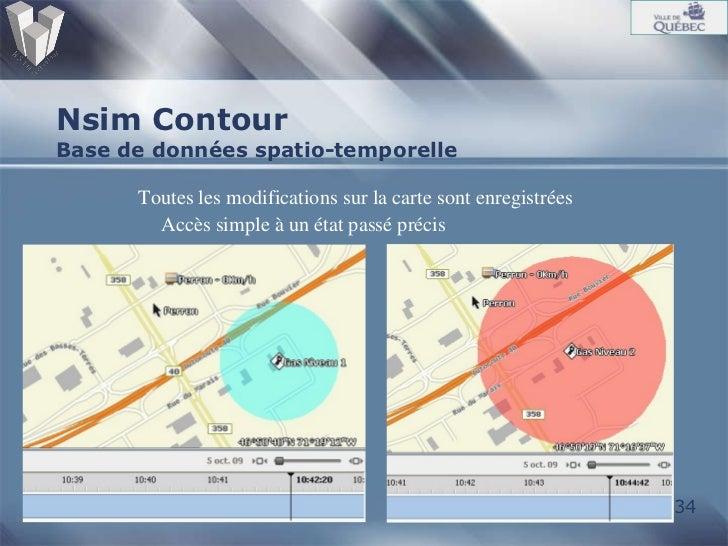 Nsim Contour Base de données spatio-temporelle <ul><ul><li>Toutes les modifications sur la carte sont enregistrées </li></...