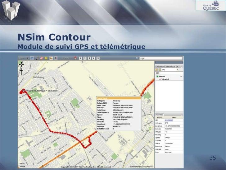 NSim Contour Module de suivi GPS et télémétrique