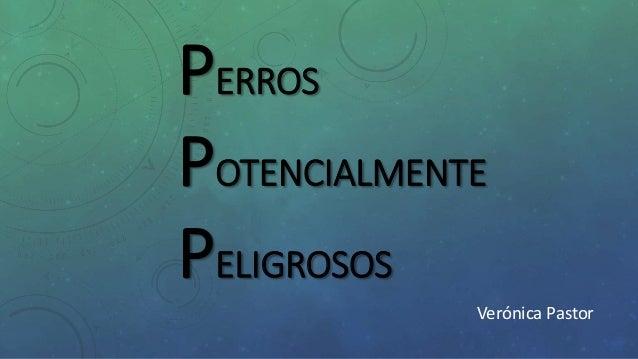 PERROS POTENCIALMENTE PELIGROSOS Verónica Pastor