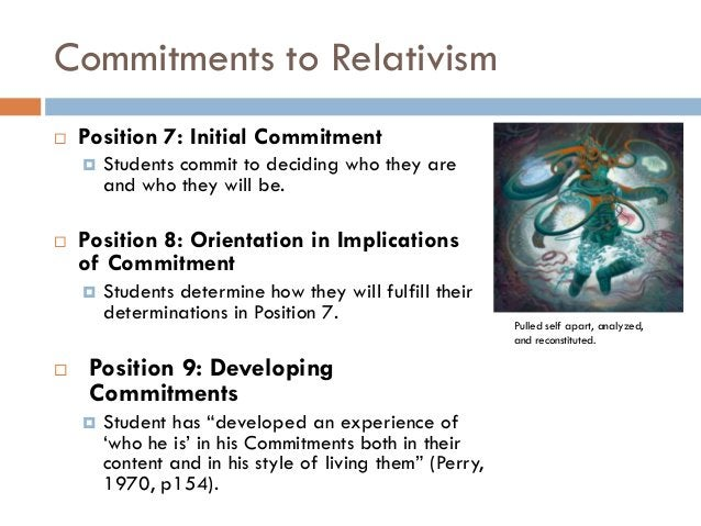 Commitments to Relativism   Position 7: Initial Commitment       Students commit to deciding who they are        and who...