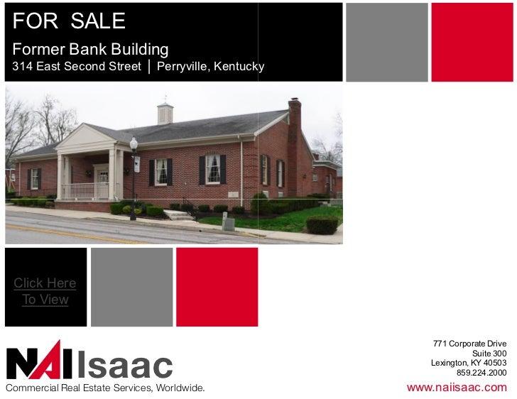 FORSALE FormerBankBuilding 314EastSecondStreet│Perryville,Kentucky                          Perryville,Kentu...