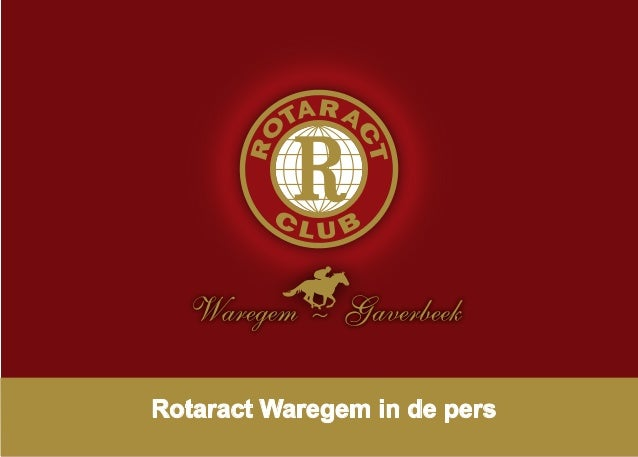 Rotaract Waregem in de pers