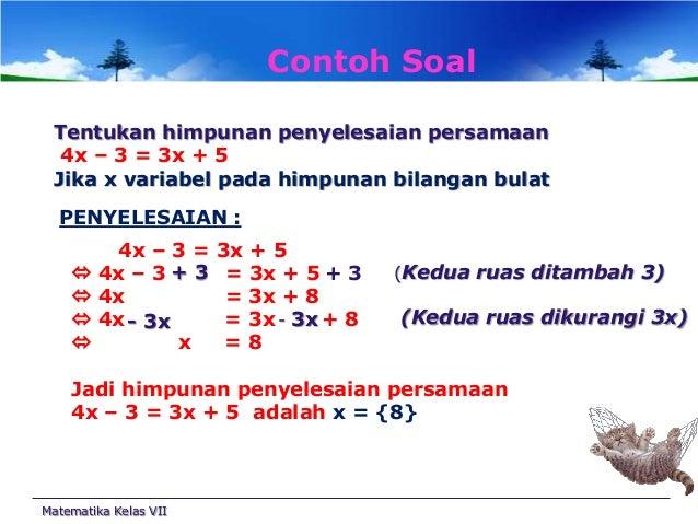 Persamaan linear satu variabel