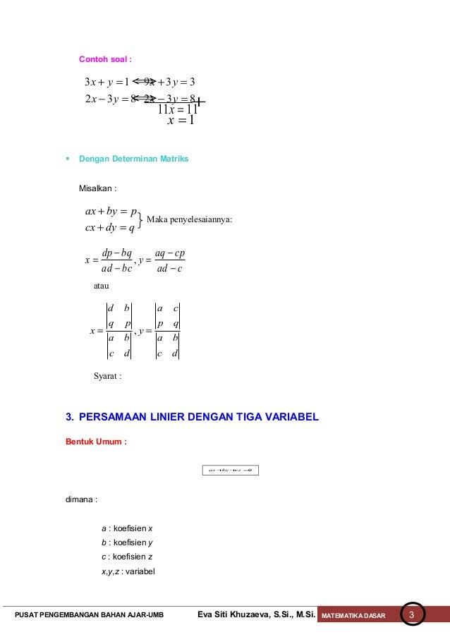 Persamaan linier Slide 3