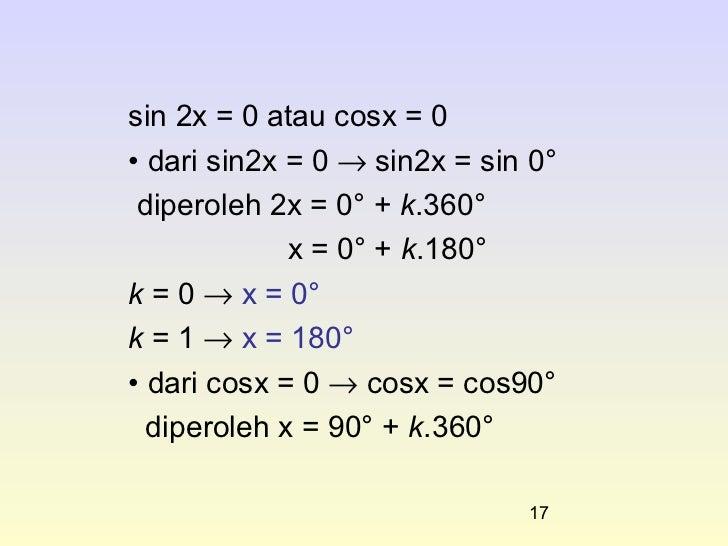 Persamaan Tigonometri