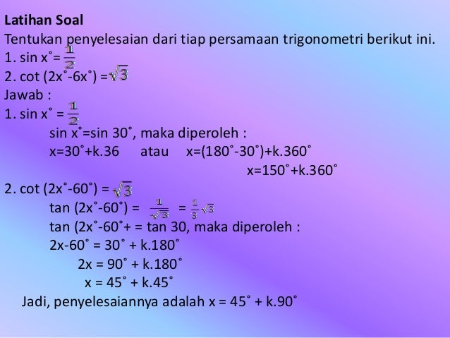 Contoh Soal Persamaan Trigonometri Kelas 10 Dan Pembahasannya Barisan Contoh