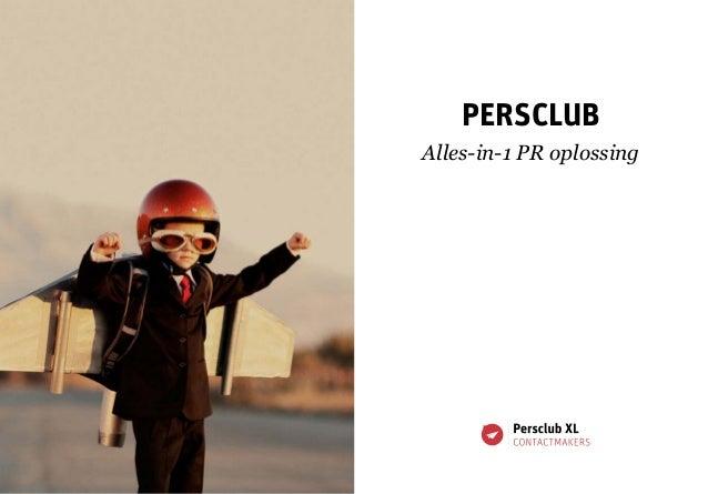 Persclub Alles-in-1 PR oplossing