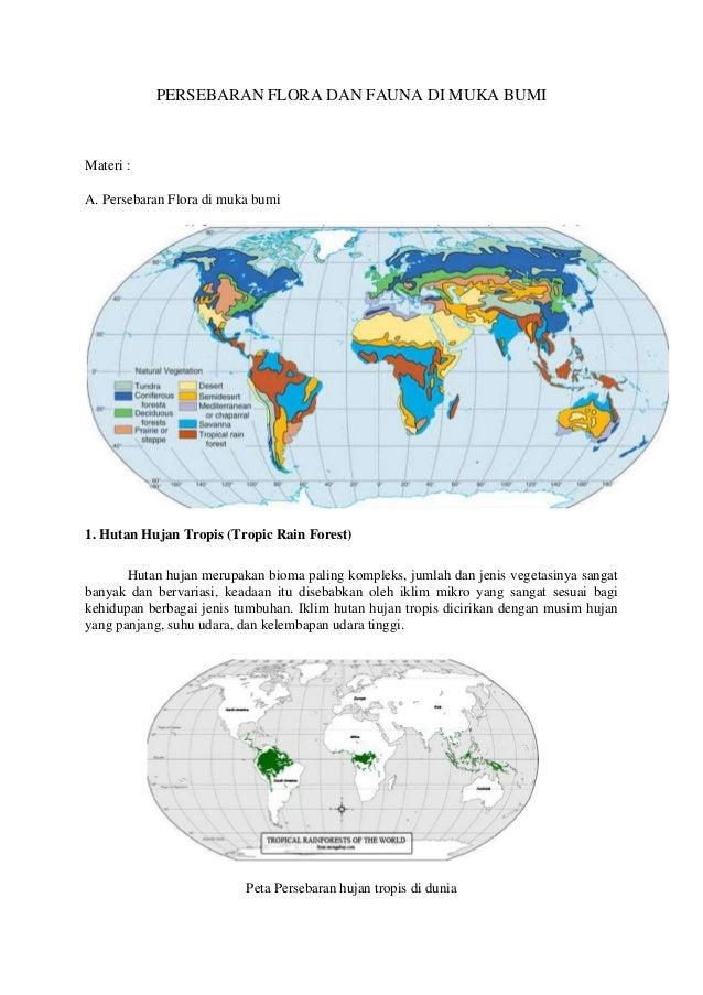 Persebaran Flora Dan Fauna Di Muka Bumi