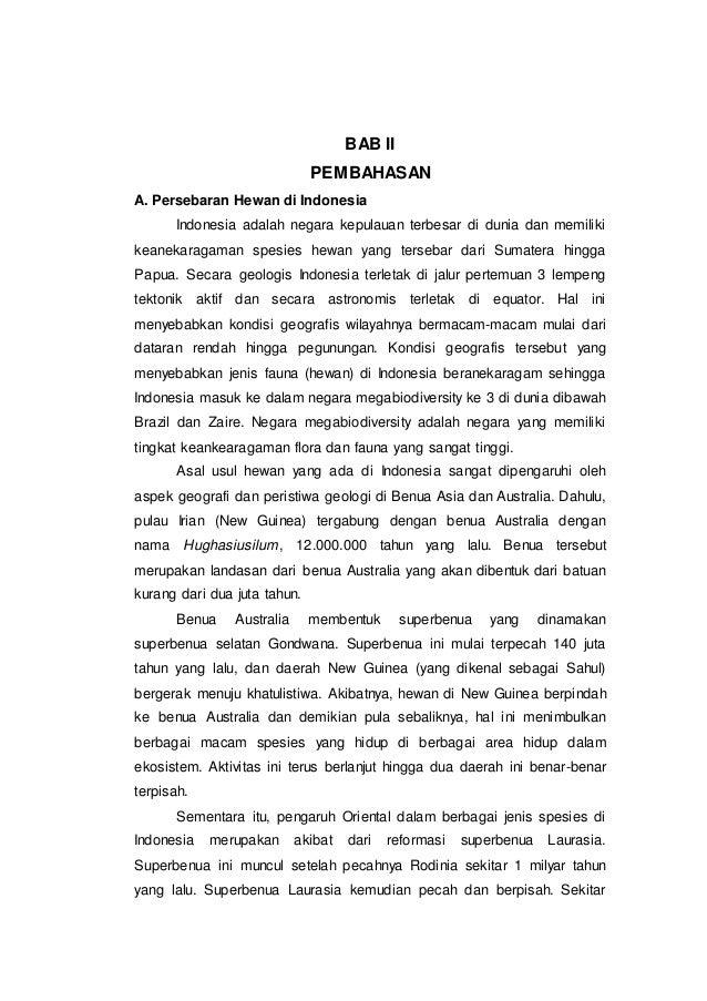 Makalah Persebaran Hewan Di Indonesia
