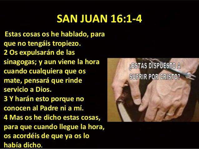 Resultado de imagen para Juan 16,1-4